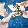 PEACE DOVES W/ OLIVE BRANCH