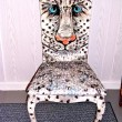 SNOW LEOPARD ART CHAIR - SOLD